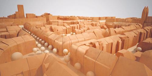 Handarbeit: Zweidimensional kann ja jeder – der Verein Stadtmodell Freiburg hat noch eine Dimension draufgepackt, den Stühlinger (oben) schon nachgebaut und am Rand der Innenstadt auch schon mal das Colombi-Schlössle (rechts) in Szene gesetzt.