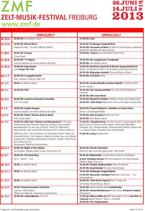 2013 ZMF-Hauptprogramm Presse