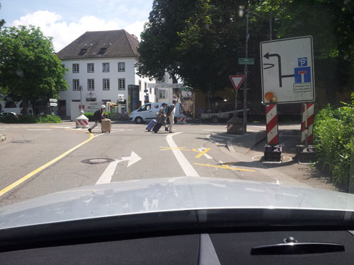 Sperrung Rotteckring Freiburg