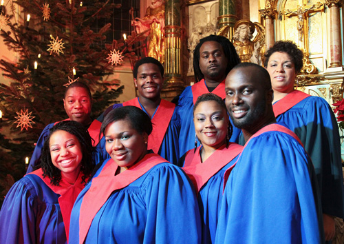 Haben den Gospel in der Stimme: The Original USA Gospel Singers. Foto / Rudi Hein