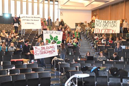 Protest gegen Studiengebühren in Freiburg