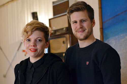 Engagiert: Julia Landenberger und Nicolas Rogow sind Sprecher des Kollektivs.