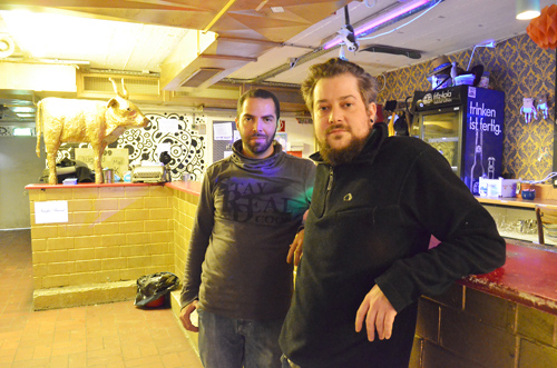 Wollen in der Innenstadt bleiben: Karim Saleh (li.) und Konstantin Rethmann (re.)