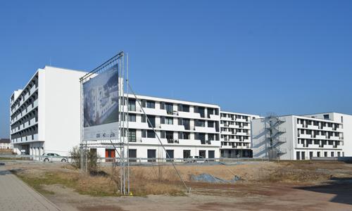 Campo Novo: Das erste realisierte Neubauprojekt auf der Bahnbrache.