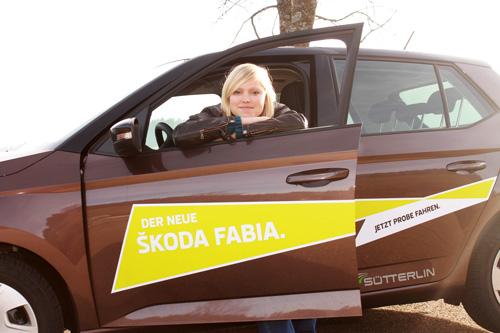 Für das chilli im car-check-Einsatz: Tanja Bruckert