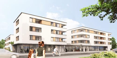 Neues Quartier: Geplante Neubauten am Carl-Sieder-Weg.
