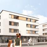 Bauvorhaben Carl-Sieder-Weg: Im Mooswald ist der Bauverein derzeit dabei, 34 Mietwohnungen und fünf Eigentumswohnungen zu bauen. Ganz ohne verordnete Sozialquote.