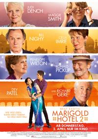 """Mit edel ergrauter Star-Besetzung wirbt die Rentner-Komödie """"Best Exotic Marigold Hotel 2"""" um die wohl meist älteren Zuschauer, die den ersten Teil zum Hit machten."""