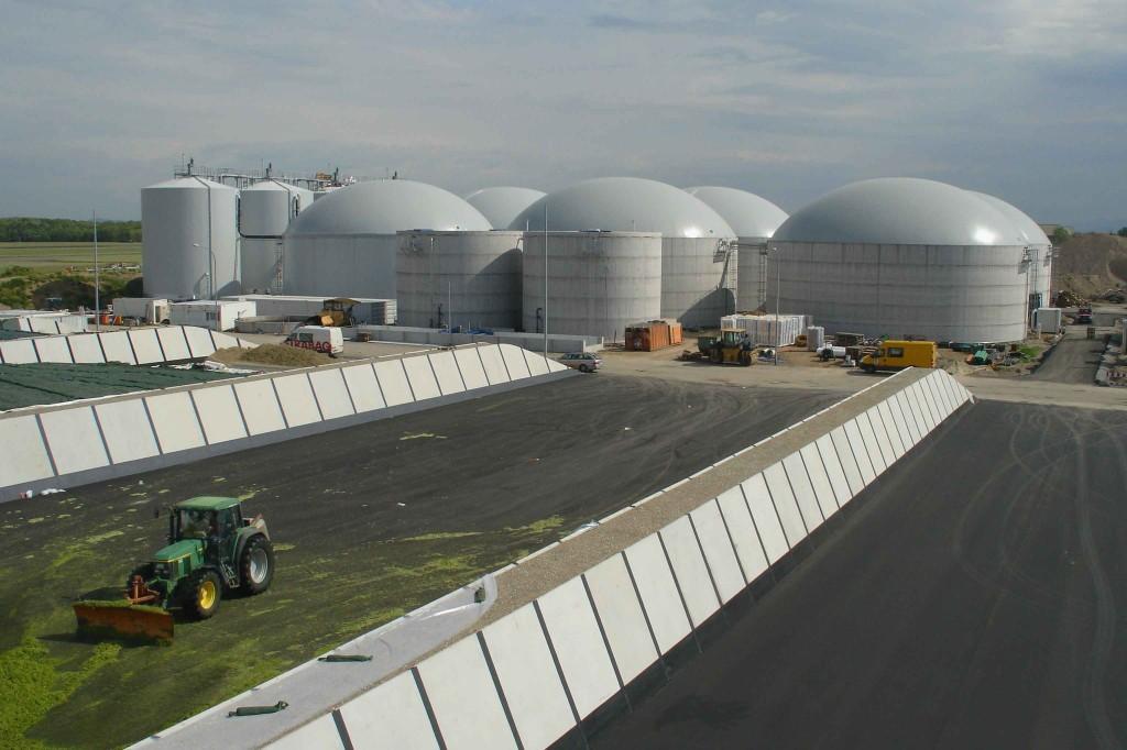 Biogasanlage im Gewerbepark Breisgau. Foto: badenova