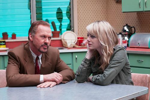 """In """"Birdman"""" spielen Michael Keaton und Emma Stone Vater und Tochter. Beide Darsteller sind für den Oscar nominiert."""
