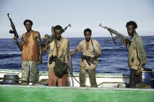 Die Piraten sind bereit, alles zu riskieren. Von links: Faysal Ahmed, Barkhad Abdi, Barkhad Abdirahman und Mahat Ali.