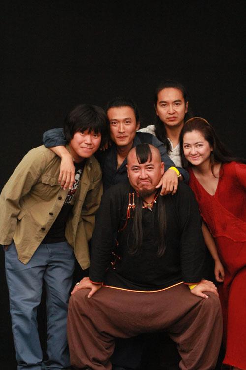 Da Wang Gang spielt in wechselnder Besetzung. Bild: Burghof Lörrach