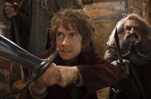 Bilbo Beutlin (Martin Freeman, links) zeigt mehr als einmal seinen Hobbit-Heldenmut.
