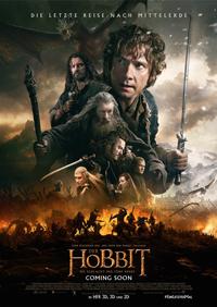 """""""Der Hobbit: Die Schlacht der fünf Heere"""" (2014) bringt die Trilogie um Bilbo Beutlin (Martin Freeman) und die 13 Zwerge zu einem guten, wenn auch etwas langatmigen Ende."""