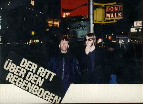 Bargon und Timmerberg auf dem Times Square in New York 1982.