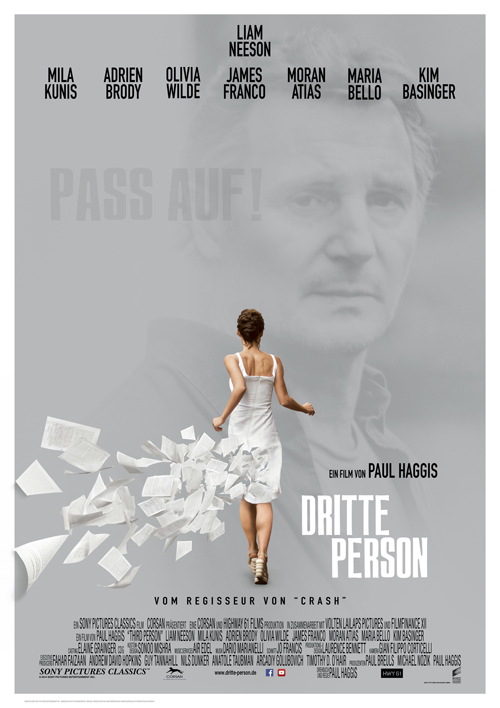 """Das hochkarätig besetzte Ensemble-Drama """"Dritte Person"""" kreist visuell hochspannend um Liebe, Erlösung - und den Akt des Schreibens."""
