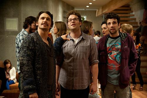 Szene mit James Franco, Seth Rogen und Jay Baruchel.