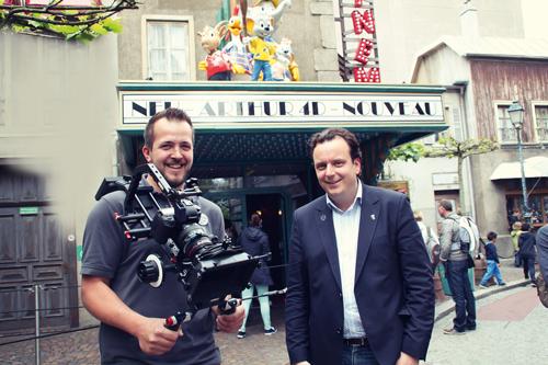 Machen Geld mit selbst produzierten Filmen: Michael Mack und sein Kameramann Fabian Primsch