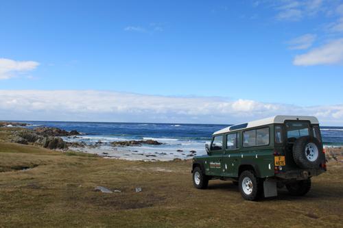 Falklands: Mit dem Jeep an den Strand