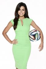 Fernanda Brandão ist Brasilien-Expertin und Straßenreporterin während der Fußball-WM vom 12. Juni bis 13. Juli 2014.
