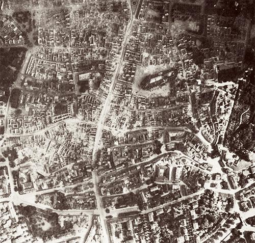 Freiburg nach dem Bombenangriff