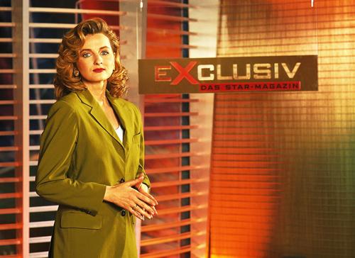 So sieht Fernsehgeschichte aus: Frauke Ludowig 1995.
