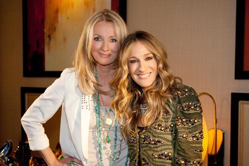 """RTL-Moderatorin Frauke Ludowig (links) und Sarah Jessica Parker: Das 20-Jahre-Jubiläum von """"Exclusiv - Das Star-Magazin"""" bietet reichlich Gelegenheit zur Rückschau."""