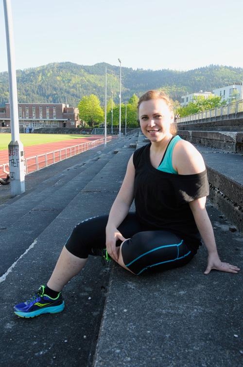 Trainieren bis die Muskeln zittern: Karoline Dombrowski