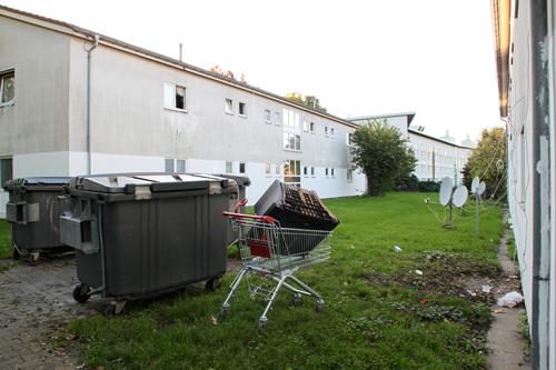 Im größten Freiburger Wohnheim an der Bissierstraße leben 288 Flüchtlinge.