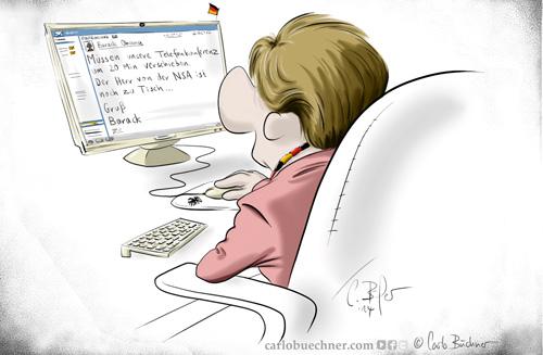 Geheimniskrämerei um Vertragsinhalte? Lächerlich, findet unser Karikaturist Carlo Büchner.