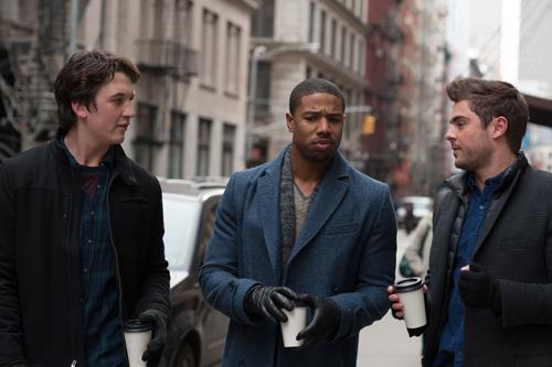 Daniel (Miles Teller, links), Mikey (Michael B. Jordan, Mitte) und Jason (Zac Efron) hadern mit dem anderen Geschlecht.