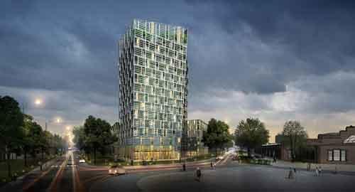 Der Green City Tower, wie er aktuell geplant ist ...