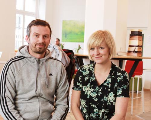 Keimzelle für Ideen geschaffen: Hagen Krohn und Martina Knittel haben auch Andreas Ogger (unten) gewonnen.