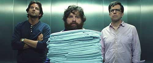 Von links: Bradley Cooper, Zach Galifianakis und Ed Helms.