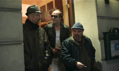 Das ist die Truppe von früher: Harms (Heiner Lauterbach), Timm (Martin Brambach), Menges (Axel Prahl, von links).