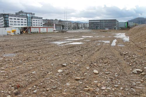 Mögliches Gelände: Die Infrastruktur beim Areal an der Heinrich-von-Stephan-Straße muss allerdings noch ausgebaut werden.