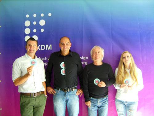 Das Illu-Team Jens Galler, Andreas Mack, Rolf Störtzer und Celina Bay.