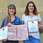 Spiegelpreisträgerinnen: Joke Benitz und Miriam Bednarz