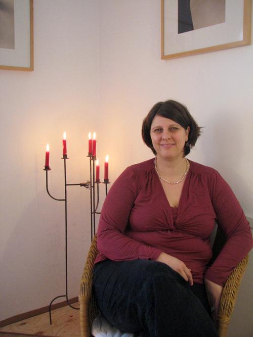 Nicole Junker: Warten aufs Christkind. Bild: Cathrin Pflüger.