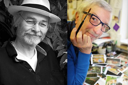 Zwei Männer eine Berufung: Klaus Stuntman (mit Hut) und Peter Gaymann.