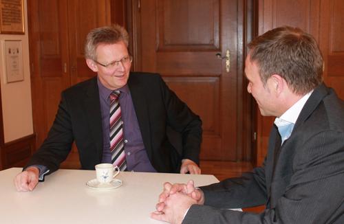 Lars Bargmann im Interview mit Ulrich von Kirchbach.