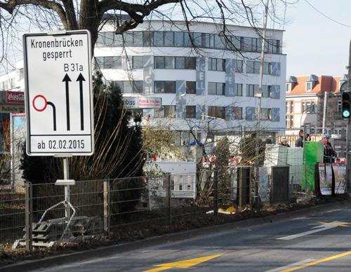 Kronenbrücke wird abgerissen.
