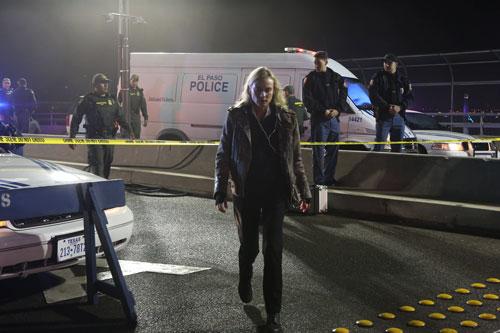 """In der Krimiserie """"The Bridge - America"""" löst Diane Kruger als Ermittlerin Sonya Cross vom El Paso Police Department Gewaltverbrechen an der amerikanisch-mexikanischen Grenze."""