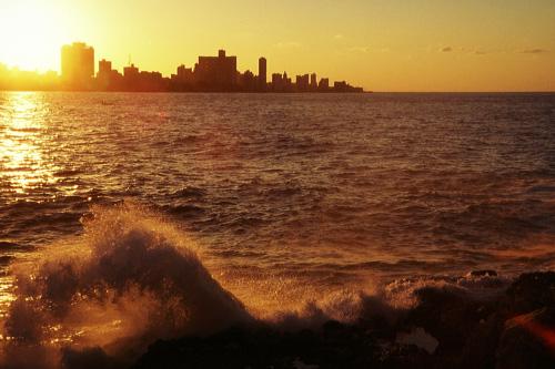 Sonnenuntergang über der Bucht