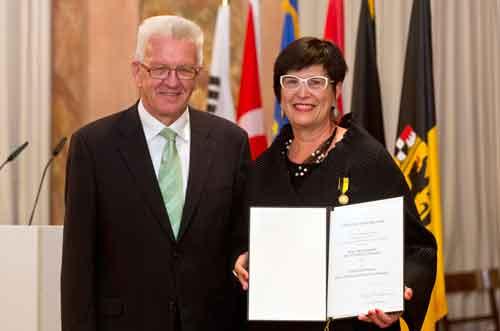 Winfried Kretschmann und Elisabeth Cheauré. Bild: Staatsministerium Baden-Württemberg