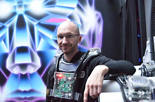 Gelassen: der Geschäftsführer des Laser Space Freiburg, Arno Flesc