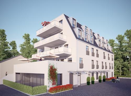 Aktuell wird am Lorettobad ein Wohn- und Geschäftshaus gebaut.