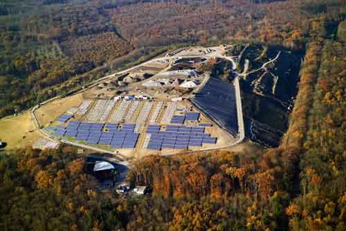 Fotovoltaik-Anlage auf dem Müllberg Eichelbuck. Foto: badenova