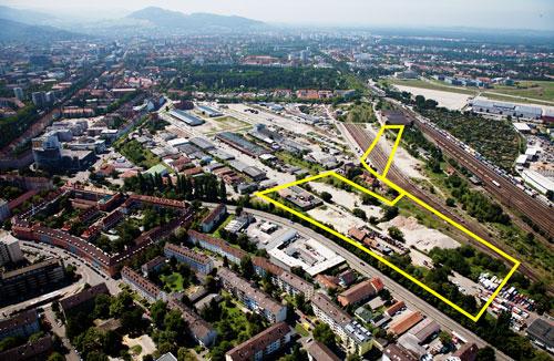 Flächen fürs Handwerk: Die gelb markierte Fläche hat die FWI jetzt gekauft.