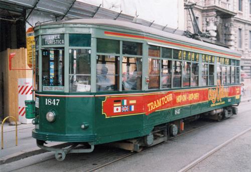 Nostalgisch anmutenden Tram